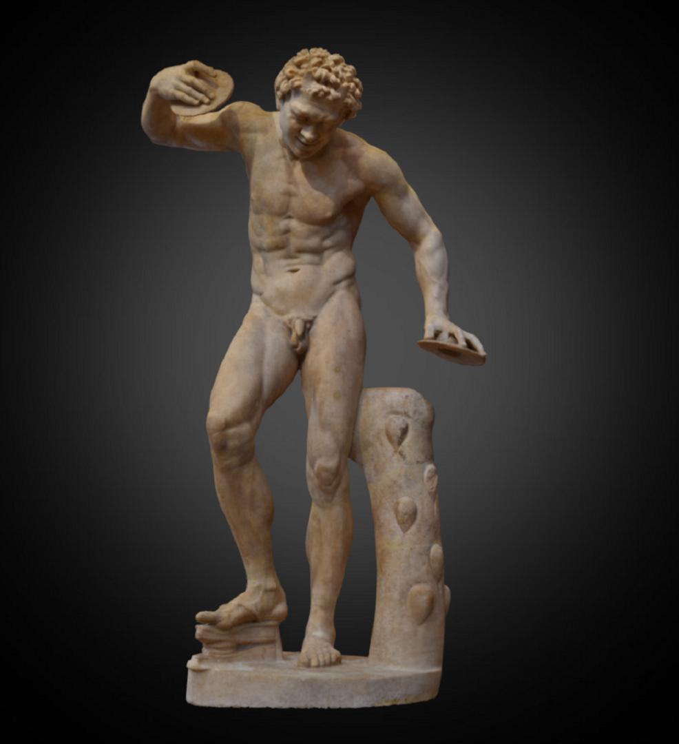 Dancing Satyr - Inv. #: 220 / Man. #: 51 / Material: Greek Marble