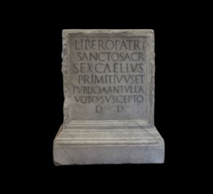 Altar to Liber Pater / n. 962