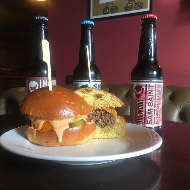 Charlie b burger @charlesbradlaugh !! Perfect with #brewdog #beer