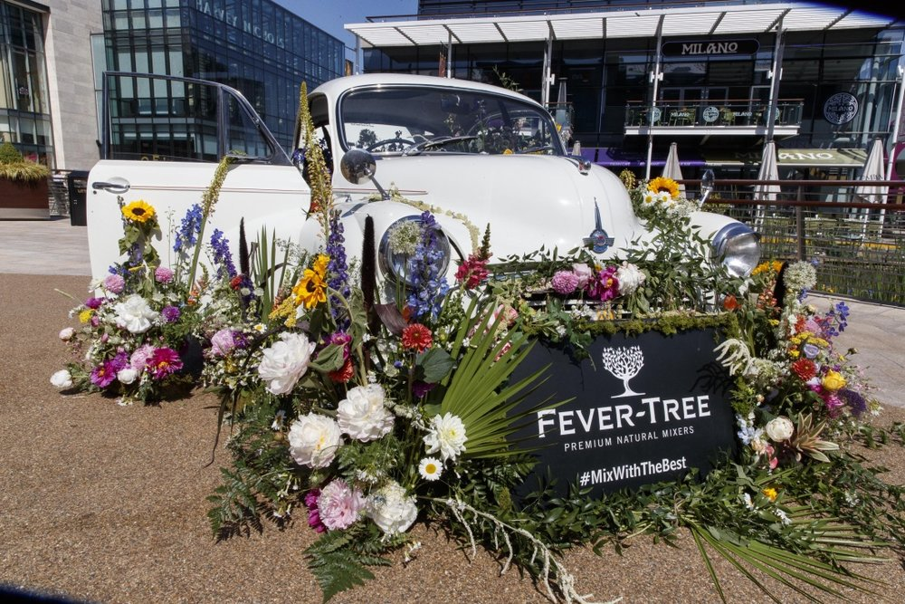 Fever Tree Flower Car for taste of Dublin