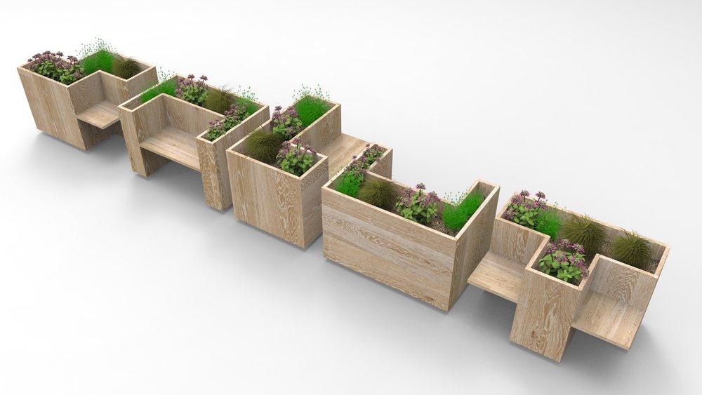Création de mobilier extérieur modulable