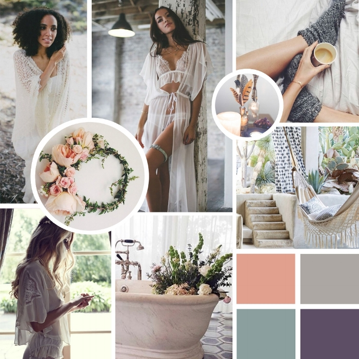 Our mood board for a sneak peak into our brand.