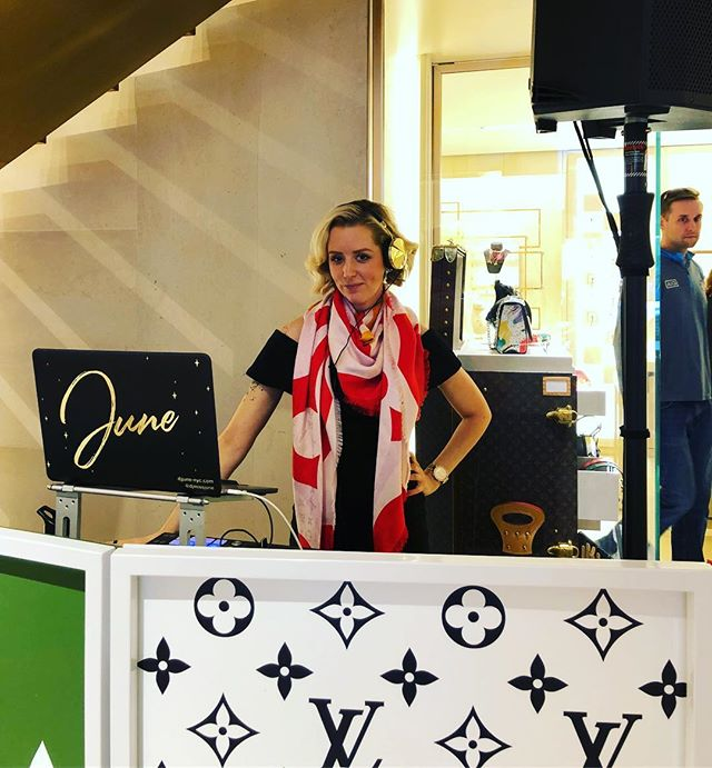 Had a fabulous time spinning for @louisvuitton spring event at their flagship in #nyc. My grandmother loved #louisvuitton handbags and I thought she was so glamorous. Now I get to play music for this brand. She would be so proud. Here's to you Grandma. 😘