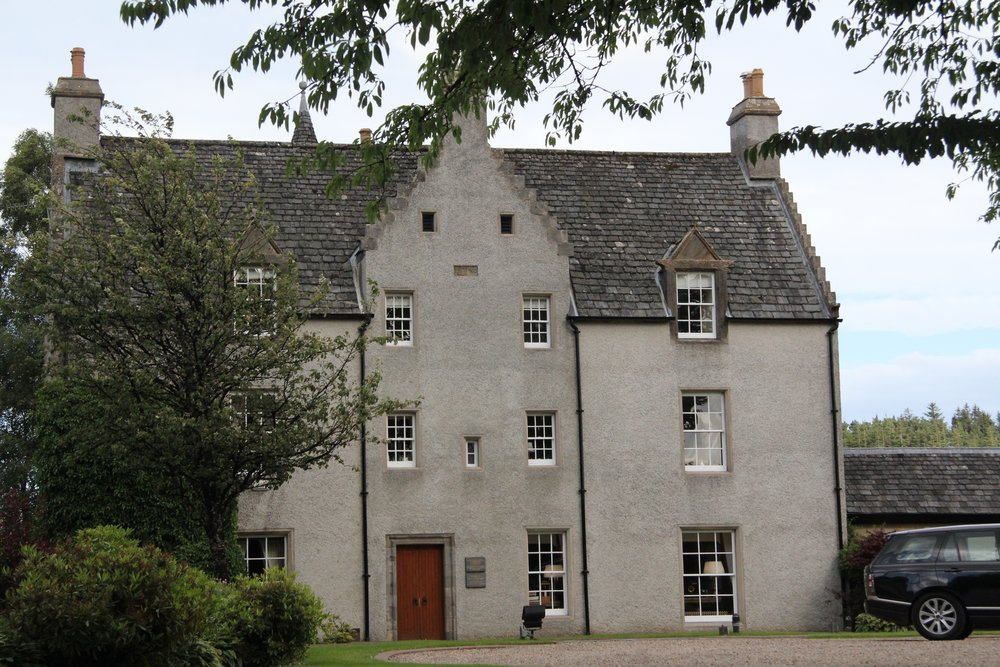 Easter Elchies House was built in 1700. It is the Spiritual Home of Macallan and appears as an emblem on the bottles