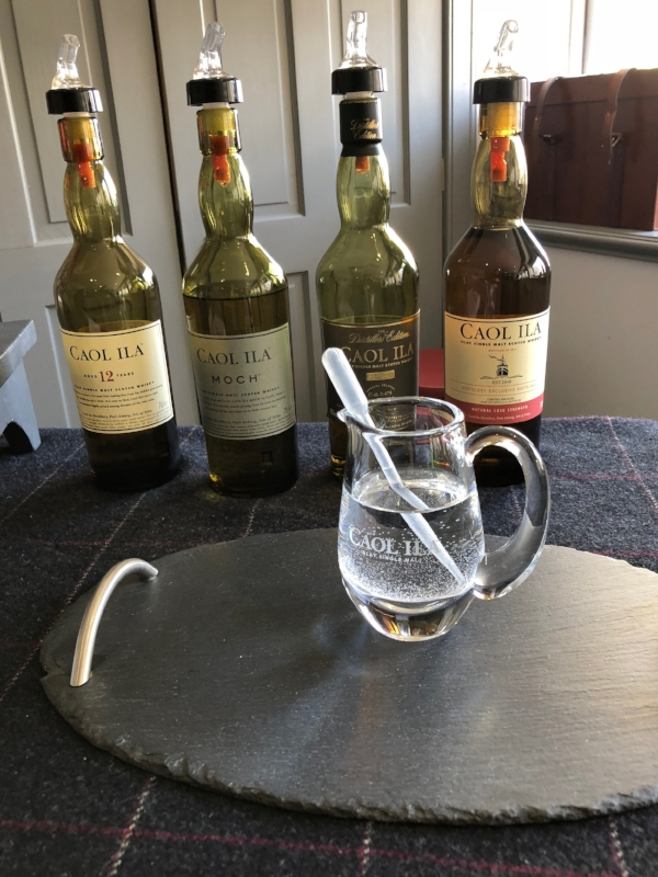 Unlike the last post, all of the whisky in this photo is actually from Islay. There is some pesky water there that I wish I had moved but I am going to call that my nod to remaining hydrated