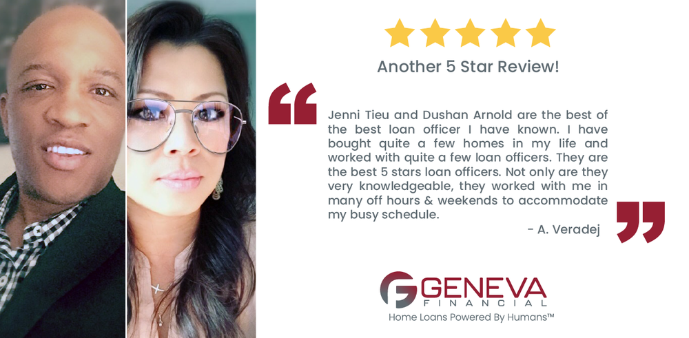 Dushan Arnold and Jenni Tieu, Mortgage Loan Officers serving the state of Texas