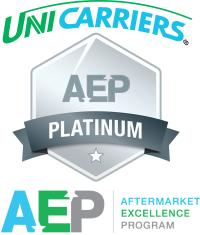 Aftermarket Excellence Program - Platinum Award Winner. UniCarriers Forklift. Forklifts of Minnesota.