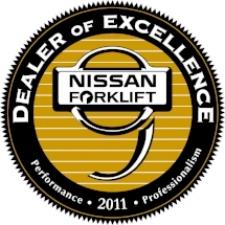 Nissan 9 - Dealer of Excellence. Nissan Forklifts in Minnesota.
