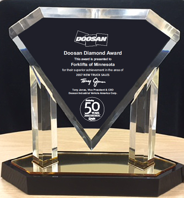 Doosan Diamond Award Winner