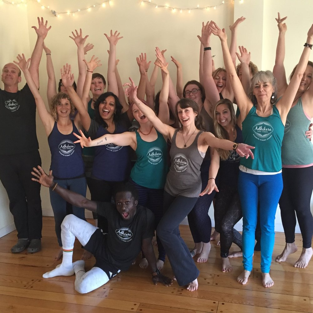 Getting goofy with the 2016 Yoga Teacher Trainees.