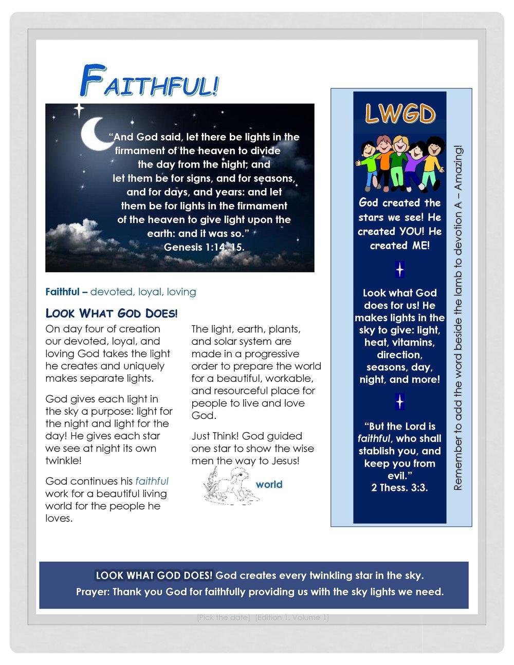 LWGD - Faithful