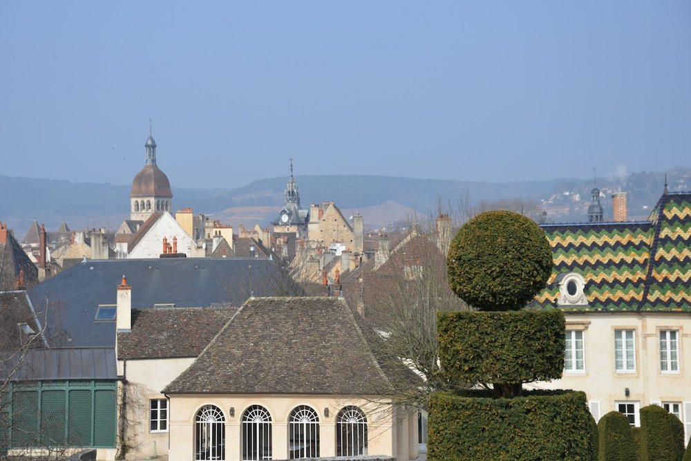 The medieval rooftops of Beaune, undisputed wine capital of Burgundy