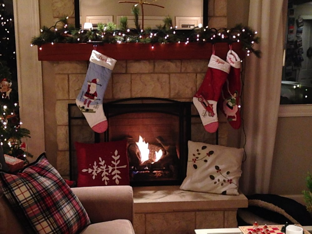 Just sitting quietly by the fire can bring peace, warmth, and mindfulness.