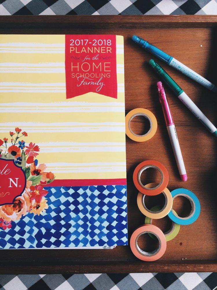 a simple plan homeschool planner peek schoolnest
