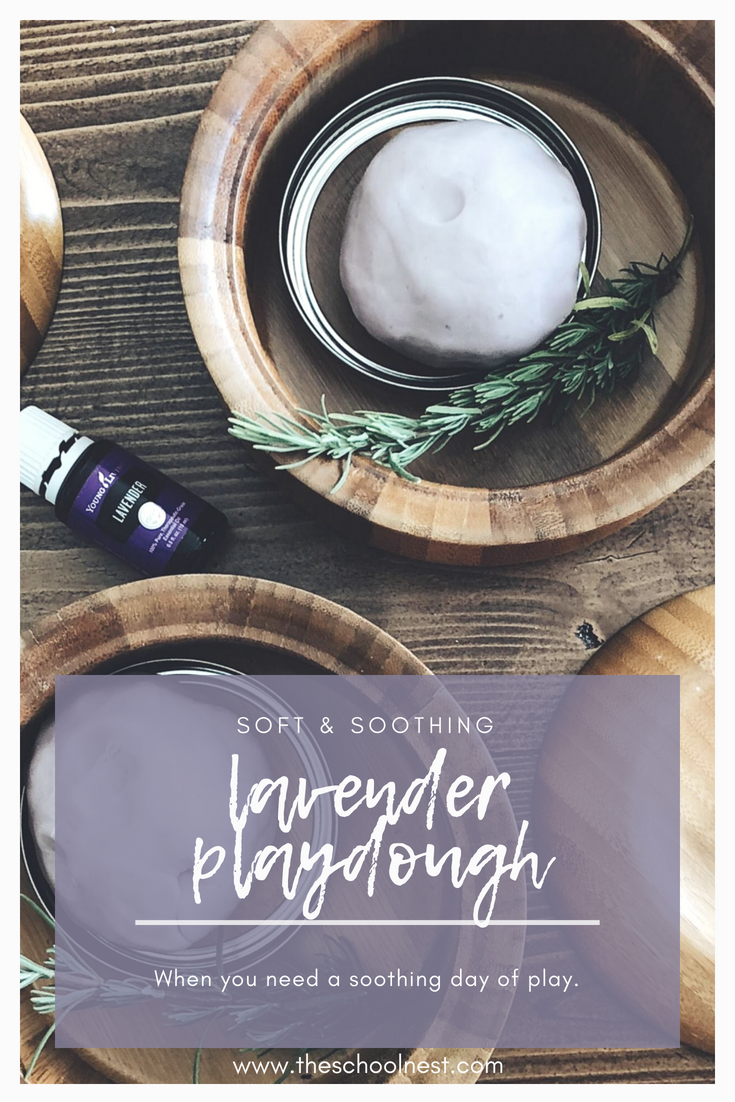 Soft and Soothing Homemade Lavender Playdough | on theschoolnest.com