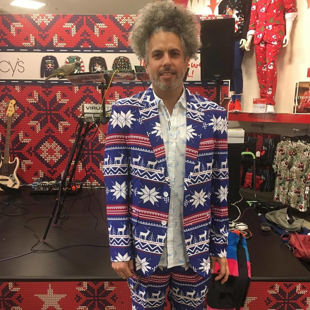 "Tony's ""ugly suit look"" at the ugly sweater party @macys  (at Dadeland Mall)"