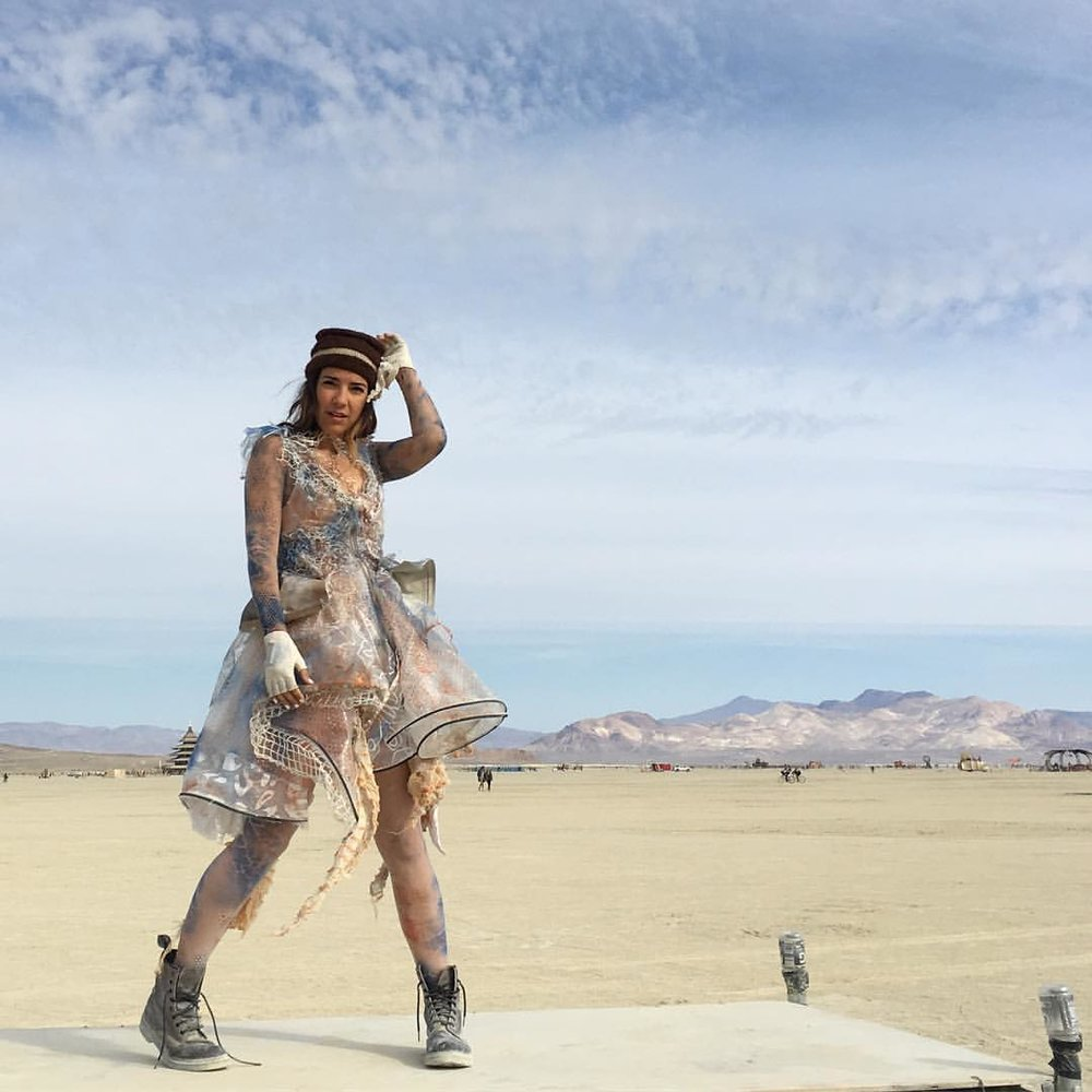 Impromptu playa photo shoot! Dress by @artofshade  (at Black Rock Desert)