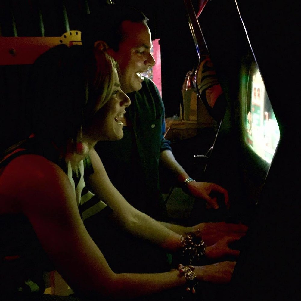 Playing Tetris b4 the show 2night ;) @afrobeta @sidebar