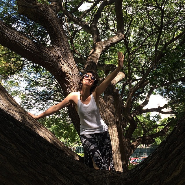 Hangin' in trees in Hawaii