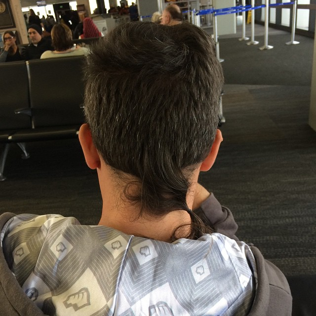 Rat tail #airportstyle @chromeo @ottovonschirach  (at San Francisco International Airport Terminal 3)