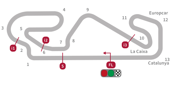 Spanje, 2014 - Circuit de Barcelona-Catalunya - 1:54.7