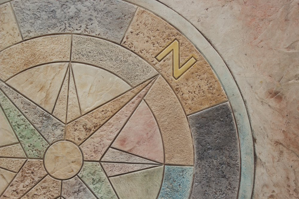"""Compass Rose  MD7401 48"""" X 48"""""""