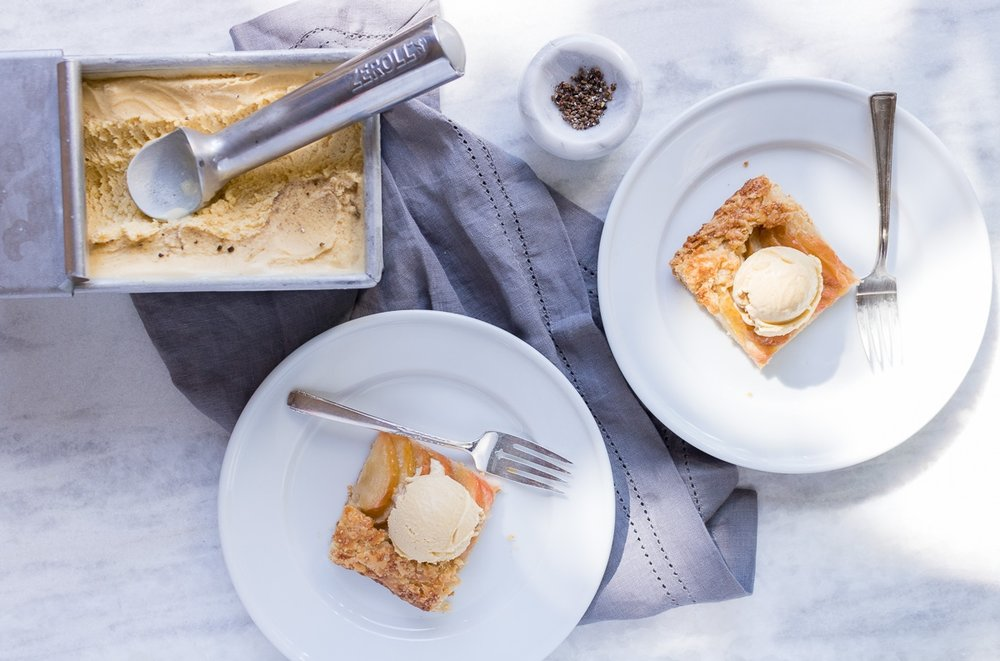 Brown Butter Cardamom Ice Cream & Apple Galette | A Dash of This