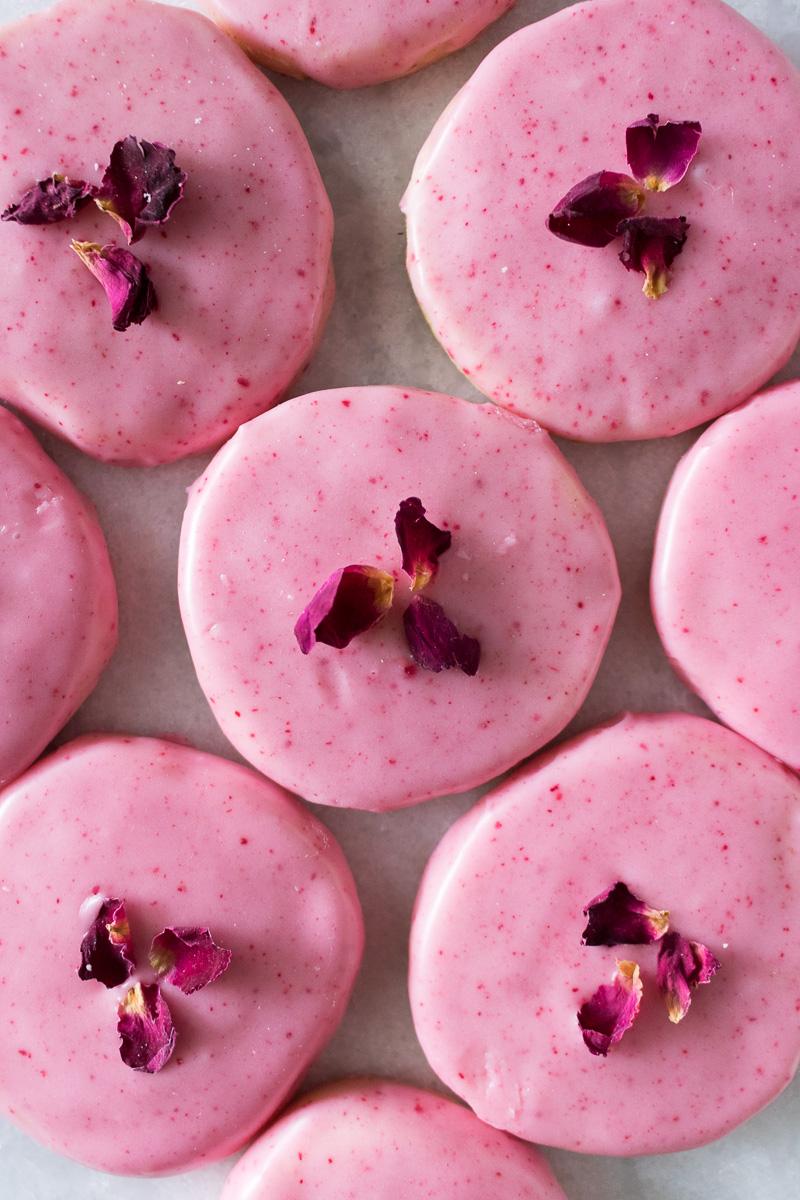 Raspberry Rose Sablés | A Dash of This 001