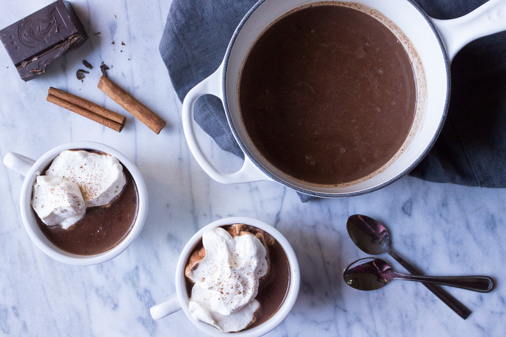 Bourbon Spiced Hot Chocolate | A Dash of This 002