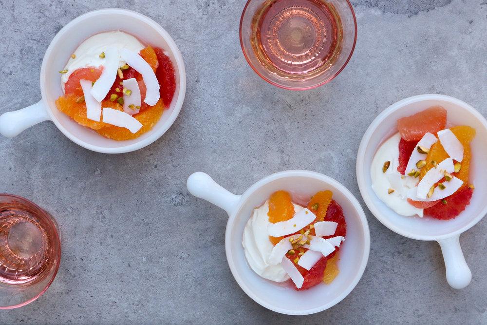 Ambrosia with Coconut Mascarpone Cream | A Dash of This 002