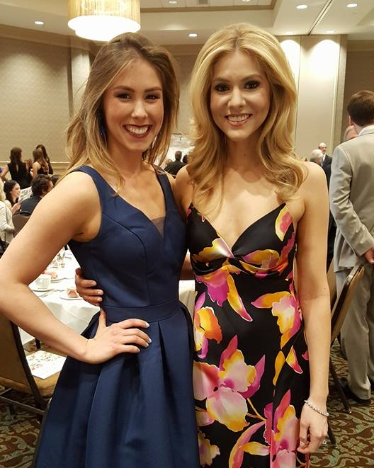 Miss Oakland County 2015 Kaitlyn Krizanic with Miss America 2008 Kirsten Haglund.