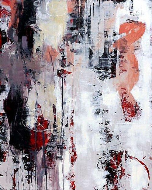 """Opus 37, acrylic, oil, alkyd & wax on wood,  60"""" x 48"""""""