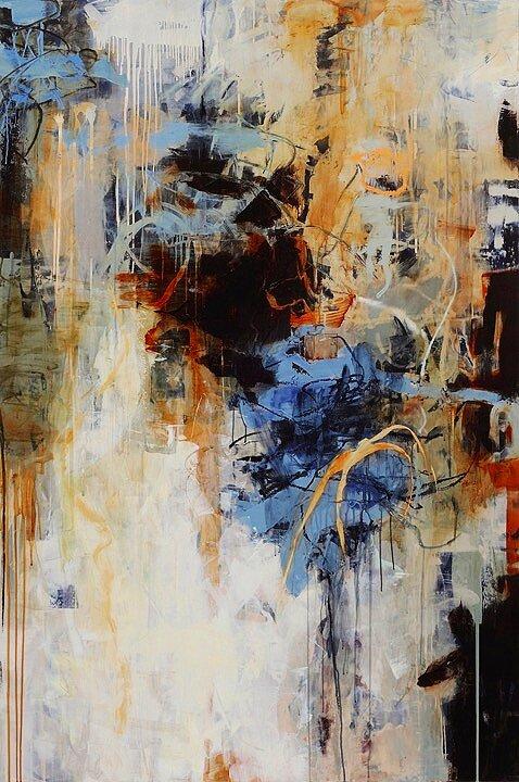 """Opus 20, Acrylic on wood, oil, alkyd & wax, 60""""x40"""