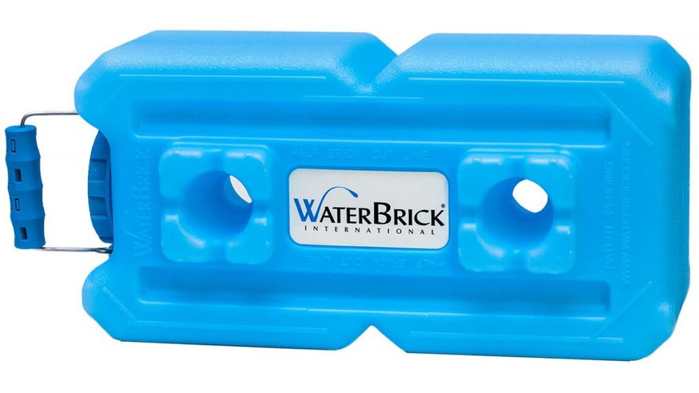 Waterbricks aren't cheap, but they stack well.