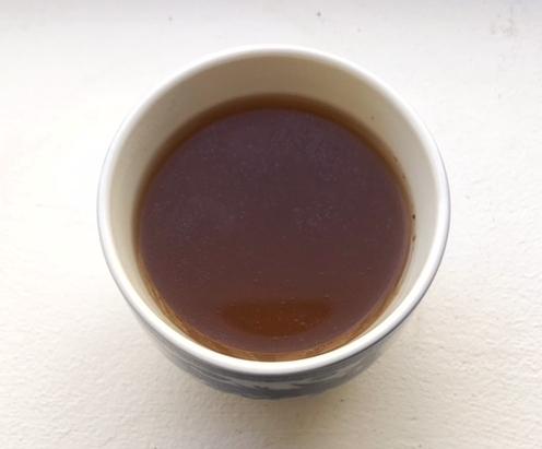 Warm cup of homemade bone broth