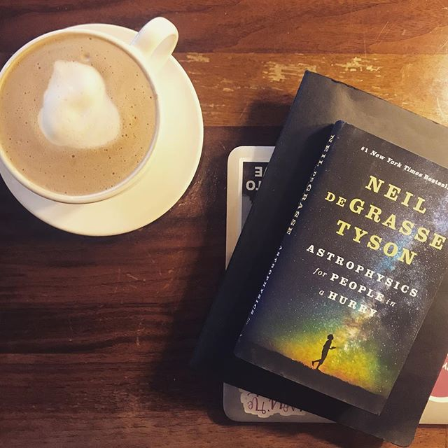 I'm in a weird funk with a to-do list a mile long so I'm drinking an ill-advised 4 pm coffee to perk myself up so I can get started on this latest book from Neil DeGrasse Tyson. I've been saving it up but I can't wait any longer. Anyone already read it? I have such high hopes because I've already heard wonderful things. . . #thebookshipproject  #neildegrassetyson