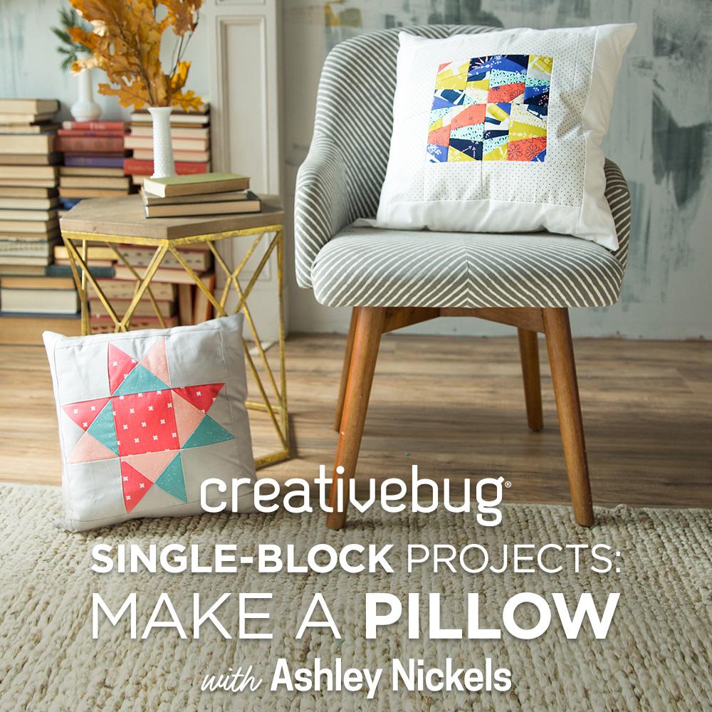 Make a Pillow Creativebug