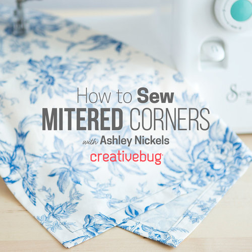 d2a5f1c3651b How to Miter Corners Creativebug · Yoga Mat Bag Creativebug