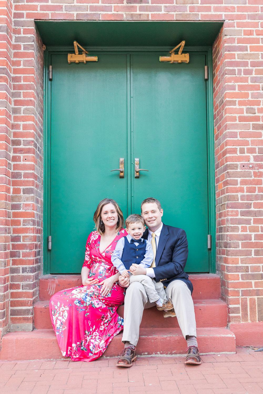 Best-Charlottesville-Virginia-Family-Photographer-Downtown-Mall-Green-Door-Portrait