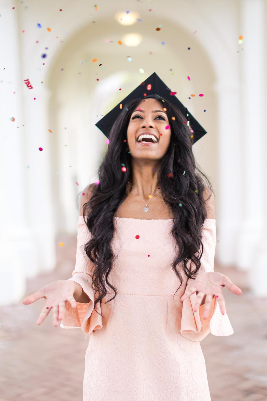 Best-Charlottesville-Virginia-UVA-Graduation-Photographer-Rotunda-Cristalle-throwing-Confetti