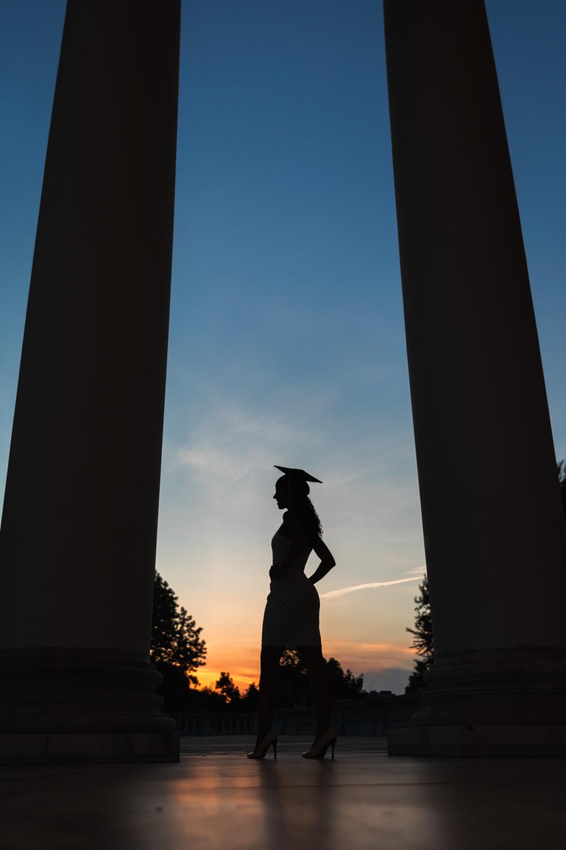 Best-UVA-Graduation-Photographer-Rotunda-Sunset-Silhouette