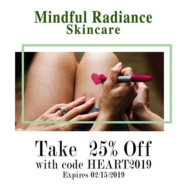 Give your love the skin it deserves this Valentine's Day with Mindful Radiance Skin Care's Valentine's Day Sale!