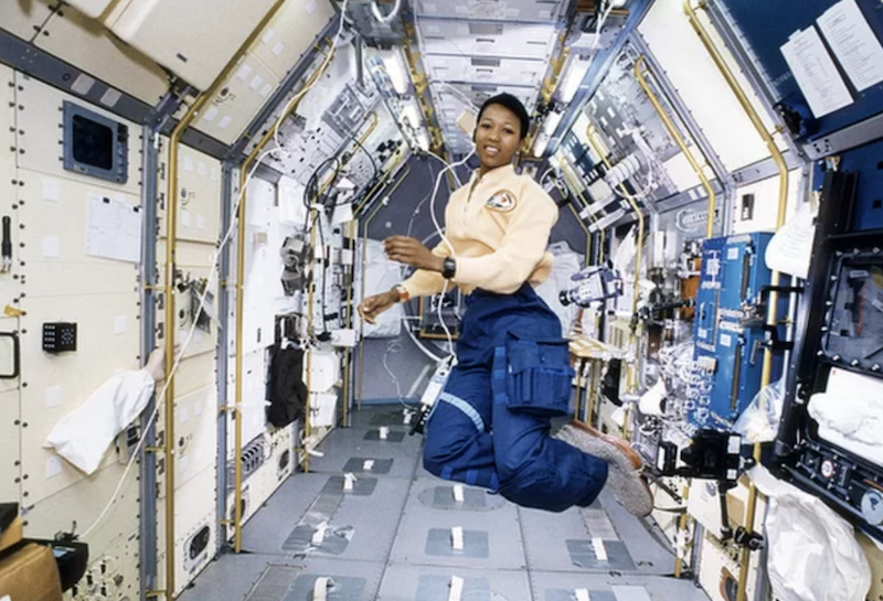 NASA astronaut Mae Jemison flew on space shuttle Endeavour in September 1992, becoming the first black woman to travel to space. Credit: NASA