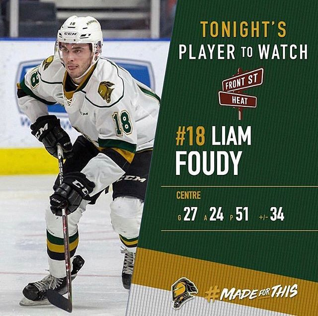 Tonight's London Knights Topshelf player is none other than @foudy_22 and he's on 🔥 tonight! . . . . . . . #hockey #hockeynightincanada #hockeynight #topplayer #canada #ice #rink #arenalife
