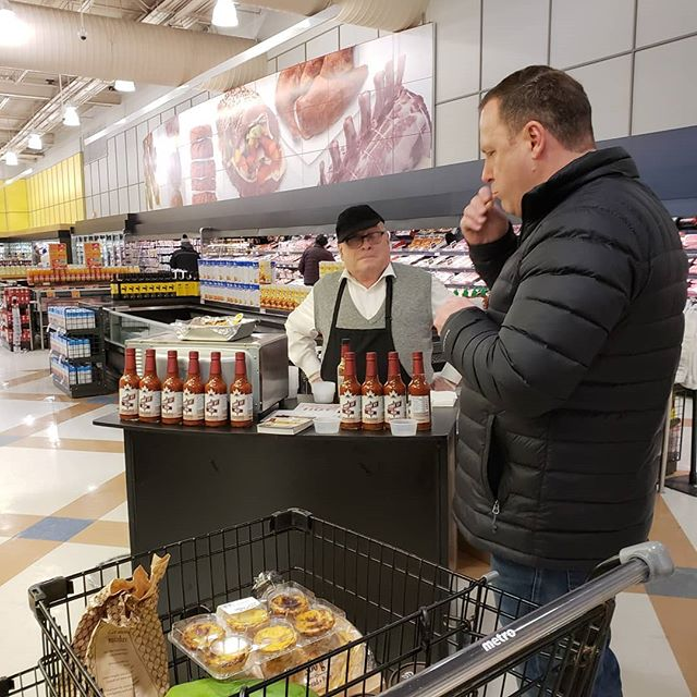 Getting RAVE reviews as we continue our demo tour through 🛒Metros in Sarnia/London/Windsor and surrounding areas. One taste is all it takes!!! #CanadasHotSauce