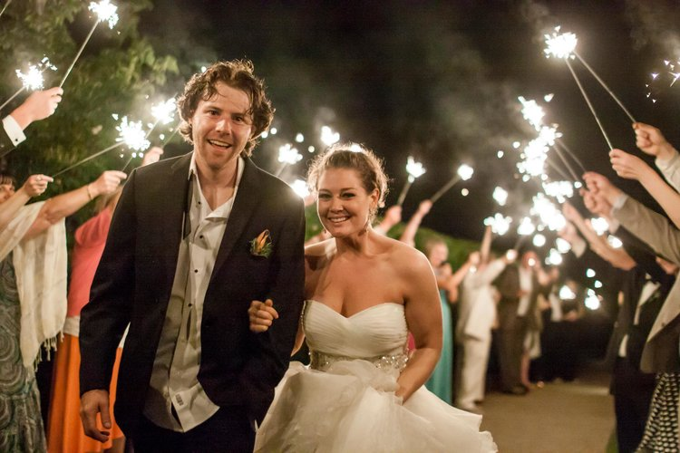A Beautiful Sparkler Sendoff With Maggie Jake