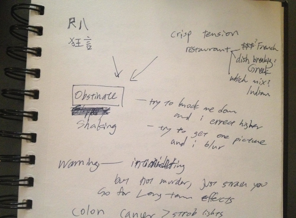 Aki Sasamoto's notes in preparation for her discussion at The Kitchen L.A.B. Conference: Position.