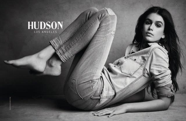 Kaia Gerber in Hudson's fall 2017 campaign, shot by Patrick Demarchelier