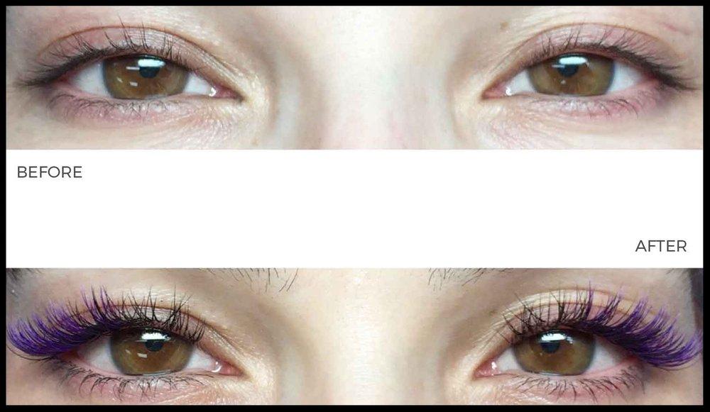 Purple Lashes - Wynter Artistry Eye Lash Extension