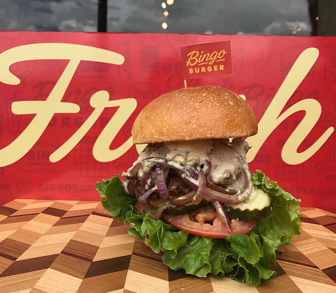 2/$25 Deal - Two of our famous Bingo Burgers with Pueblo chili jack cheese, choice of garden, served on an Old School Bakery brioche bun. One large order of our hand-cut, cooked to order fries to share, and choice of any two beverages including our selection of Colorado Craft beers (shakes & malts not included)